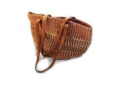 vintage bag straw sisal market jute woven by diaphanousvintage