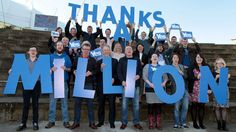 Yes Scotland celebrate reaqching one million signatures to their declaration statement, August 22 2014