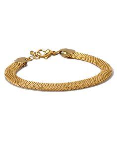 Look at this #zulilyfind! Gold Mesh Bracelet by HMY Jewelry #zulilyfinds