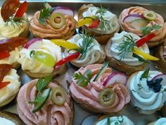 Party Snacks, Appetizers For Party, Czech Recipes, Ethnic Recipes, Tea Sandwiches, Canapes, Sandwich Recipes, Food Design, Diy Food