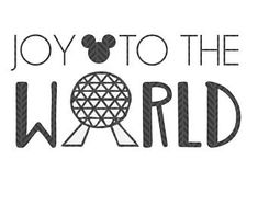 Joy to the world, Epcot Christmas  SVG file