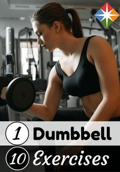 Grab a dumbbell to do these 10 exercises with nothing more and improve your fitness!