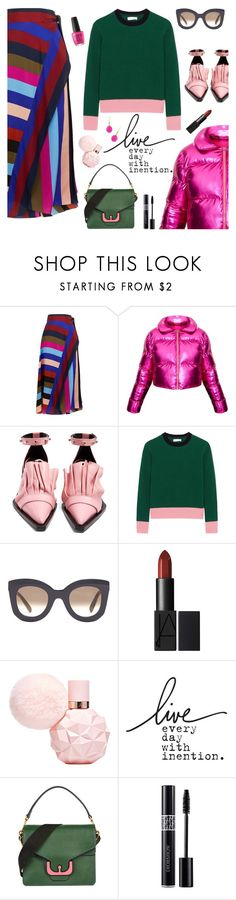 """""""Outfit of the Day"""" by sproetje ❤ liked on Polyvore featuring Diane Von Furstenberg, Marques'Almeida, Chinti and Parker, CÉLINE, Coccinelle, Christian Dior, ootd, WearIt, stripesonstripes and PatternChallenge"""