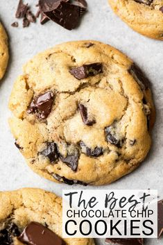 This is the best chocolate chip cookie recipe ever. No funny ingredients, no chilling time, etc. Just a simple, straightforward, amazingly delicious, doughy yet still fully cooked, chocolate chip cookie that turns out perfectly every single time! #cookies #chocolatechipcookies #baking #recipe #chocolate via @joyfoodsunshine