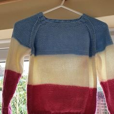 Lil Rascal Round Neck Sweater in West Yorkshire Spinners Bo Peep Luxury Baby - Downloadable PDF Toddler Knitting Patterns Free, Christmas Knitting Patterns, Knit Patterns, Blue Sky Fibers, Girls Jumpers, Universal Yarn, Baby Scarf, Bo Peep, Plymouth Yarn