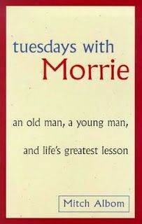 Tuesday's with Morrie is an awesome book. It really makes you think where you are headed in life. Mitch Albom is such a good author. It inspires us to live life to the fullest. Love Reading, Reading Lists, Book Lists, I Love Books, Good Books, Books To Read, Any Book, This Book, Tuesdays With Morrie