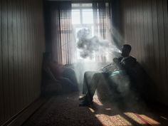 Vaping next to a window or an open vent with air flowing in and out is very ideal.