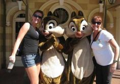 Wrong Chippendales In This Picture: Photo of chip or dale looking at womans boob