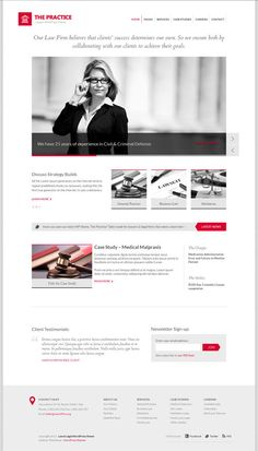 Lawyer & Law Firm WordPress Theme – The Practice on Behance