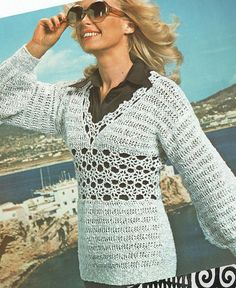 Items similar to PDF Womens Ladies Crochet & Knitting Pattern Tunic Dress Summer Boho Beach Cover Up Mini Larger Lister Lee Target Bell Bishop on Etsy Summer Tunics, Summer Dresses, Ethnic Looks, Retro Clothing, Bikini Cover Up, Knit Sweaters, Cardigan Pattern, Vintage Knitting, Retro Outfits