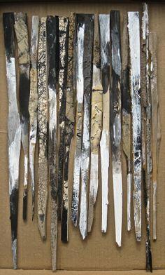 Gabriel Lalonde -  16 restes d'atelier/ Palissade1 - Technique mixtes sur bois