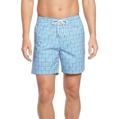 Men's Bonobos Print 7-Inch Board Shorts (¥9,740) ❤ liked on Polyvore featuring men's fashion, men's clothing, men's swimwear, blue geo, mens board shorts swimwear, mens boardshorts, bonobos men's clothing, mens swimwear and men's apparel