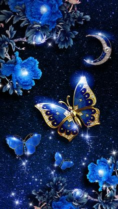 It is… Elegant blue butterfly live wallpaper! It is originally designed by Ahatheme! Blue Butterfly Wallpaper, Butterfly Live, Butterfly Background, Butterfly Pictures, Flower Phone Wallpaper, Cellphone Wallpaper, Flower Images, Android Wallpaper Blue, Bling Wallpaper