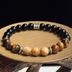 Men Gemini Zodiac Bracelet, Stretch Bracelet, Agate Bracelet, Tiger's Eye Bracelet, Gemstone Bracelet, Astrology Bracelet, Zodiac Jewelry by SymbolicGems on Etsy https://www.etsy.com/listing/279124320/men-gemini-zodiac-bracelet-stretch