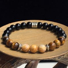 Men Gemini Zodiac Bracelet, Stretch Bracelet, Agate Bracelet, Tiger's Eye Bracelet, Gemstone Bracelet, Astrology Bracelet, Zodiac Jewelry by SymbolicGems on Etsy https://www.etsy.com/listing/279124320/men-gemini-zodiac-bracelet-stretch