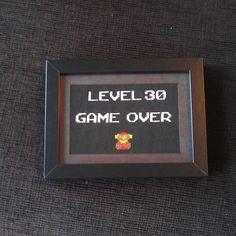 Super Mario Cross Stitch  Game Over