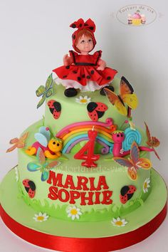 Ladybugs and butterflies - Cake by Viorica Dinu