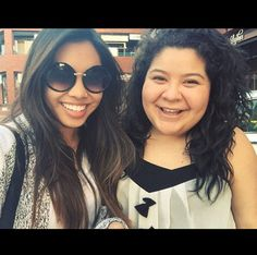 "It was a good time for Raini Rodriguez from ""Austin & Ally"" and her bestie Ashley Argota (""The Fosters"") to catch up on Monday evening (April Raini Rodriguez, Austin And Ally, Disney Shows, Celebs, Celebrities, Disney Channel, Youtubers, The Fosters, Besties"