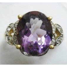 3.750 Grms Designer Sterling Silver Ring with Natural Amethyst