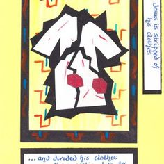 Stations of the cross 10 Holy Week, Bible Crafts, Lessons For Kids, Lent, Catholic, Original Artwork, Prayers, Easter, Activities