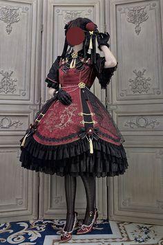 Alice Girl -The Garden of the Magpie- Qi Lolita OP Dress,Lolita Dresses, Kawaii Fashion, Cute Fashion, Girl Fashion, Rock Fashion, Old Fashion Dresses, Fashion Outfits, Fashion Boots, Alternative Outfits, Alternative Fashion