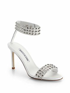 Manolo Blahnik - Rocco Studded Leather Sandals - Saks.com