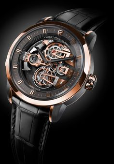 The Christophe Claret Soprano Tourbillon contains a musically accurate minute repeater striking Westminster Quarters on patented cathedral gongs, a tourbillon and Charles X style bridges, all on a stunning dial-free view. Richard Mille, Dream Watches, Fine Watches, Luxury Watches, Men's Watches, Amazing Watches, Cool Watches, Watches For Men, Rolex