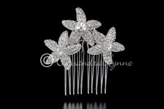 Bridal Comb with Three Crystal Starfish from Cassandra Lynne