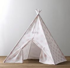 RH Baby & Child's Printed Canvas Teepee - Pink Dandelion:Serving as the foundation for countless scenarios of the imagination, a tent can be a game-changer in the playroom. Ours is constructed of a sturdy, cotton-canvas shell – in a stylized dandelion print. Best of all, it sets up in an instant with sturdy yet lightweight aluminum poles. Select prints are available in two sizes to accommodate all ages.