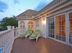 great balcony area off master suite.