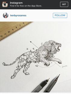 Lion art  Tattoo idea