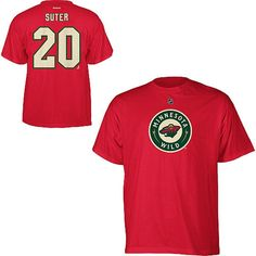 Ryan Suter Minnesota Wild Reebok Name and Number Player T-Shirt - Red - $22.39