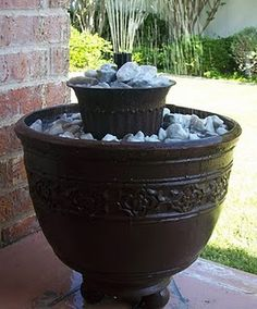 DIY Fountain - no standing water, no place for mosquitoes to breed