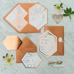 New! Copper and marble wedding invitation #weddings #weddingideas #copper #marble #weddinginpiration