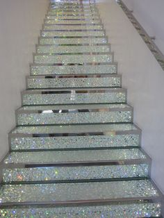 Sparkle stairs. I would love to be blinded by this staircase in the morning.