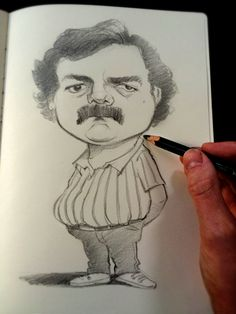 Narcos Caricature Sketch