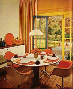 60\'s bedroom in orange | Inspiring Spaces. | Pinterest | 60 s ...