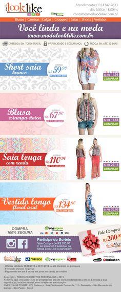 Campanha de e-mail marketing para a loja virtual Moda Look Like. Coleção Primavera-Verão.