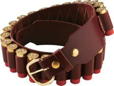 Top-grain cowhide shotgun shell belt features 25 shell loops, allowing you to easily carry a complete box of shells at your w.