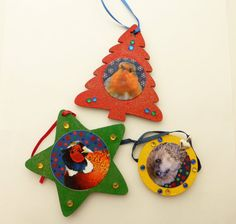 Christmas Decorations Christmas Robin Decorations by Larryware