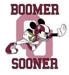 Boomer Sooner OU-MY TWO FAVORITES! DISNEY & OU FOOTBALL