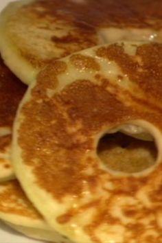 apple slices dipped in pancakebatter, bake/cooke with cinnamon & nutmeg= BREAKFAST!