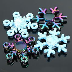 New Snowflake Fidget Spinner EDC Hand Spinners Autism ADHD Birthday Present Kids Christmas Gifts Metal Finger Toys Spinners http://ali.pub/219f4q