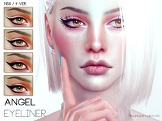 This eyeliner is created by Pralinesims. It's the Angel Eyeliner N56. It looks amazing.