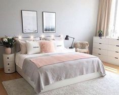 Nice 48 Cheap Teen Girls Bedroom Ideas With Simple Interior. # Nice 48 Cheap Teen Girls Bedroom Ideas With Simple Interior. Simple Bedroom Decor, Trendy Bedroom, Cozy Bedroom, Bedroom Apartment, Modern Bedroom, Bedroom Ideas, Contemporary Bedroom, Bedroom Designs, Summer Bedroom