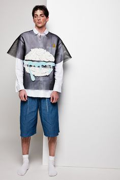 """Yii unveiled its SS15 """"The Bit Eater"""" lookbook, featuring Filip Ursulica at Wu Models photographed by ZhongLin. Inspiration for this season draws from the comorbidity between eating disorder and depression to 8 Bit art, memory addressing... »"""