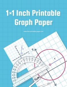 A 1x1 inch printable graph paper for you to use when plotting equation points or drawing other shapes. #math #school #printable #graph #paper Printable Graph Paper, Free Printables, Math, Free Printable, Math Resources, Mathematics