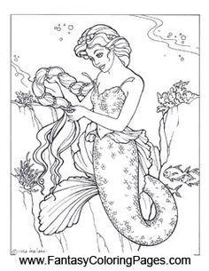 16 beautiful mermaids pdf format and sizeed for 85 x 11 paper so they are adult coloring pagescoloring
