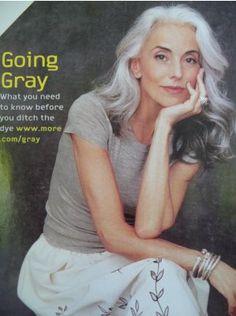 long grey hair