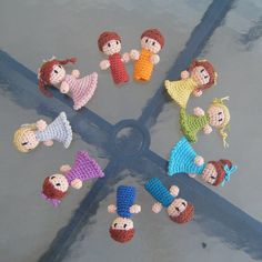 Crochet finger puppets  If I can learn how to crochet before Christmas, then Jacob would love these